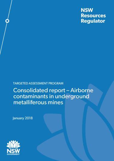TAP Report - airborne contaminants in underground metalliferous mines