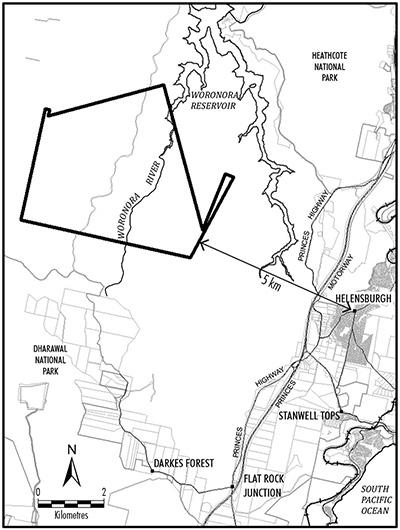 Metropolitan Collieries coal exploration licence application location map