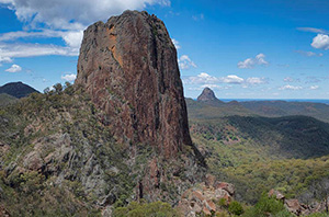Volcanic rock at Warrumbungle National Park